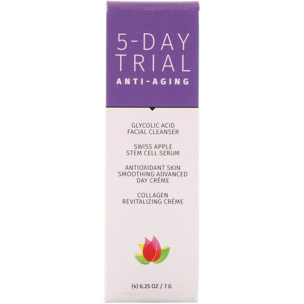 5-Day Trial Kit, Anti-Aging, 4 Piece Kit, 0.25 oz (7 g) Each