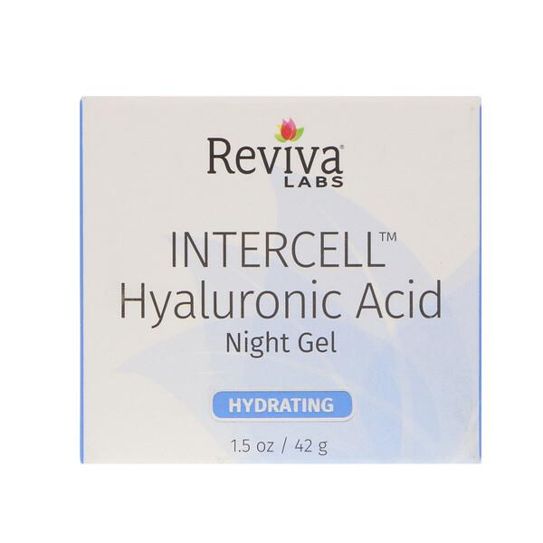 InterCell, гиалуроновая кислота, ночной увлажняющий гель, 1,5 унц. (42 г)
