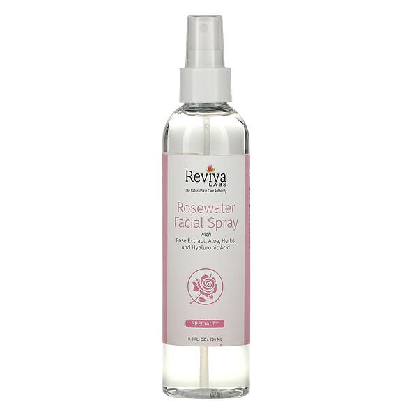Розовая вода-спрей для лица, 8 унц. (236 мл)