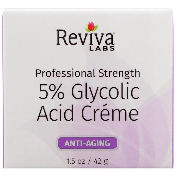 Reviva Labs, Крем с 5% гликолевой кислотой, омолаживающий эффект, 42 г (Discontinued Item)