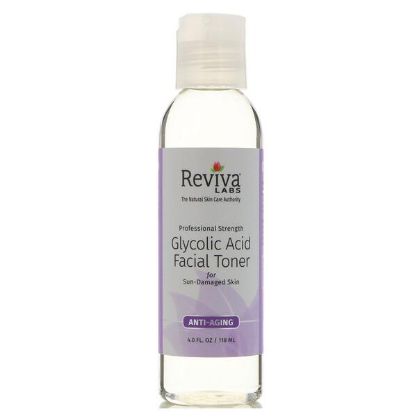 Reviva Labs, Тоник для лица с гликолевой кислотой, 118мл (4жидк.унции)
