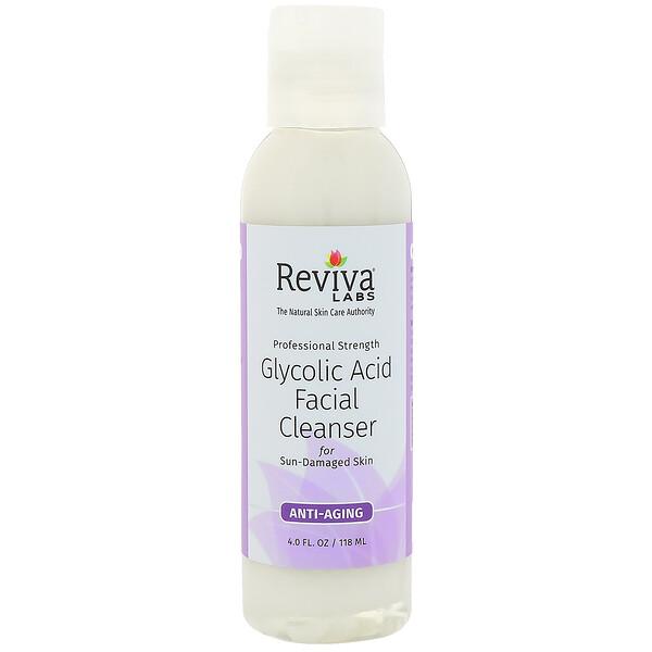 Reviva Labs, Очищающее средство для лица с гликолевой кислотой, 118мл (4жидк.унции)