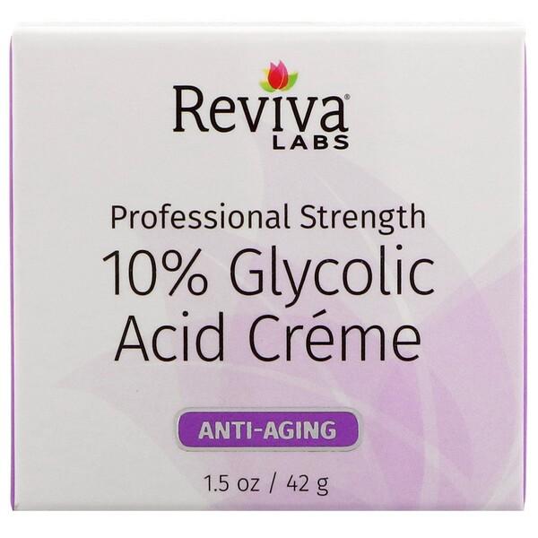 Крем с гликолевой кислотой 10%, омолаживающий, 42г (1,5унции)
