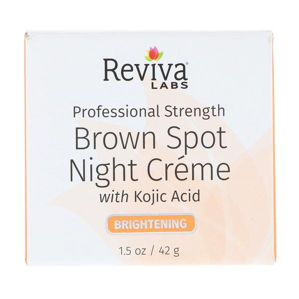 Reviva Labs, Ночной крем Brown Spot, 1,5 унц. (42 г) (Discontinued Item)