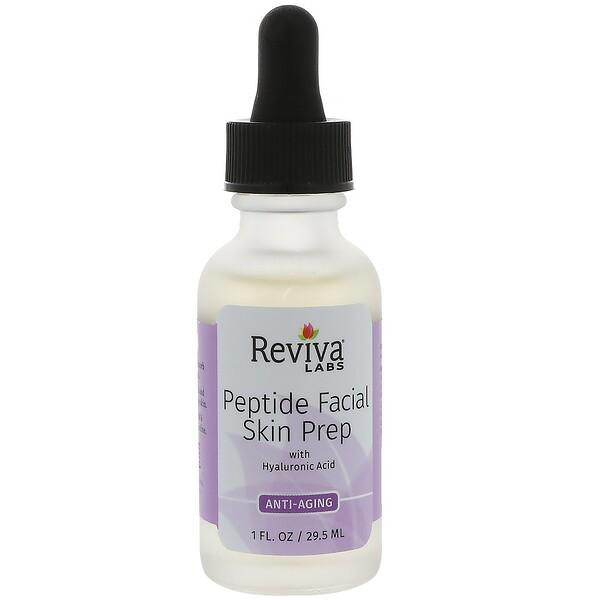 Reviva Labs, Пептидный раствор для кожи лица с гиалуровновой кислотой, противовозрастной, 29,5 мл