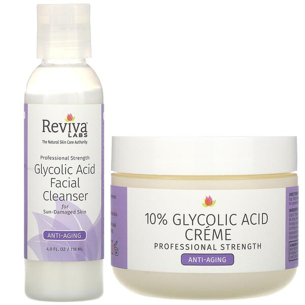 Glycolic Duo, крем с 10% гликолевой кислотой и очищающее средство для лица с гликолевой кислотой, 2 шт.
