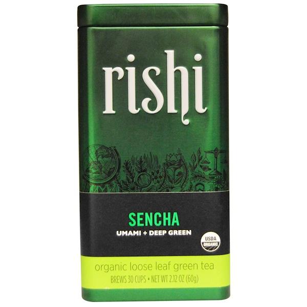 Органический зеленый листовой чай, cэнтя, 2,12 унции (60 г)