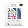 Rishi Tea, органический чай с растительной смесью, гибискус и черника, без кофеина, 15пакетиков, 48г (1,69унции)