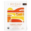 Rishi Tea, Organic Botanical Blend, Turmeric Ginger, Caffeine-Free, 15 Tea Bags, 1.74 oz (49.5 g)