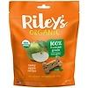 Riley's Organics, Лакомства для собак, большая косточка, рецепт со вкусным яблоком, 142 г