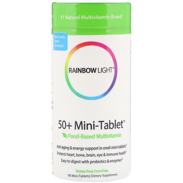 Rainbow Light, 50+ Mini Tablet, мультивитамины на основе пищевых продуктов, 90 мини-таблеток