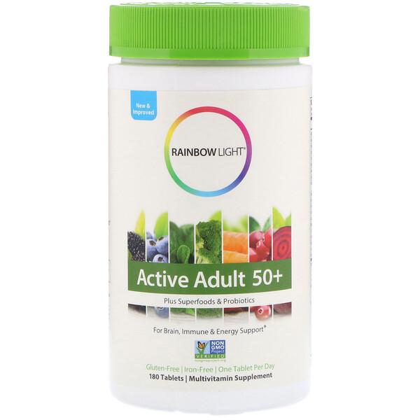 Rainbow Light, Препарат Active Adult 50+, 180 таблеток