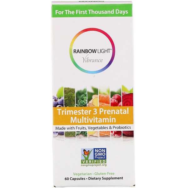 Rainbow Light, Vibrance, Trimester 3 Prenatal Multivitamin, 60 Capsules (Discontinued Item)