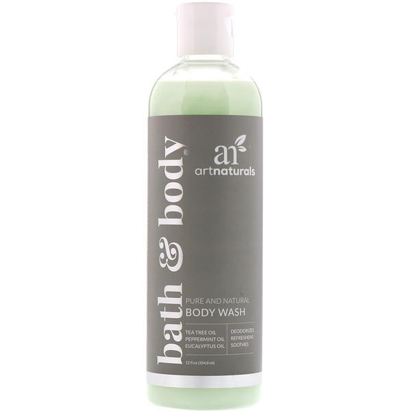 Body Wash, Natural Refreshing + Soothing Formula, 12 fl oz (354.8 ml)