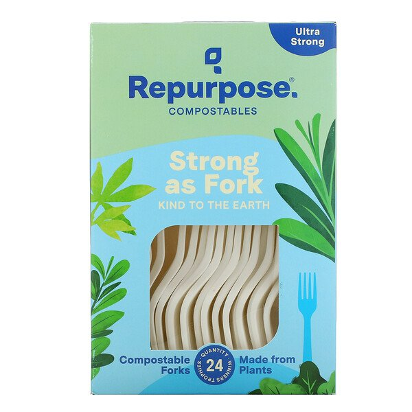 Ultra Strong, Compostable Forks, 24 Count