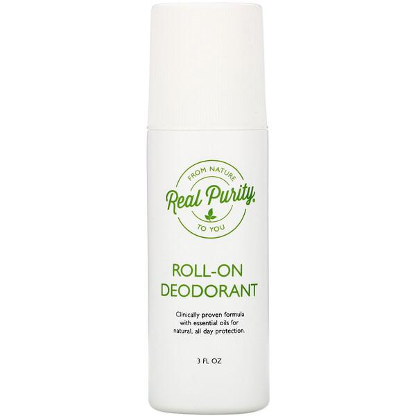Real Purity, Шариковый дезодорант, 3 жидкие унции (89 мл)