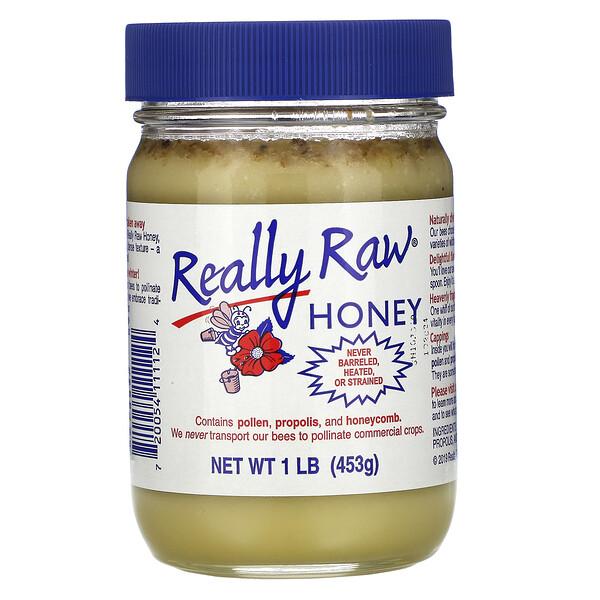 Really Raw Honey, Мед, 453 г (1 фунт)