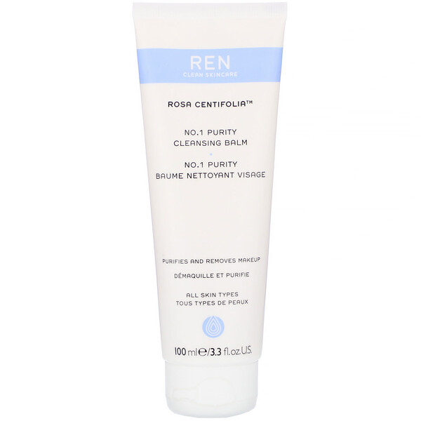 Ren Skincare, Rosa Centifolia, No.1 Purity Cleansing Balm, 3.3 fl oz (100 ml) (Discontinued Item)
