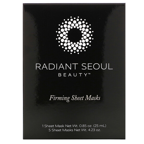 Firming Sheet Mask, 5 Sheet Masks, 0.85 oz (25 ml) Each