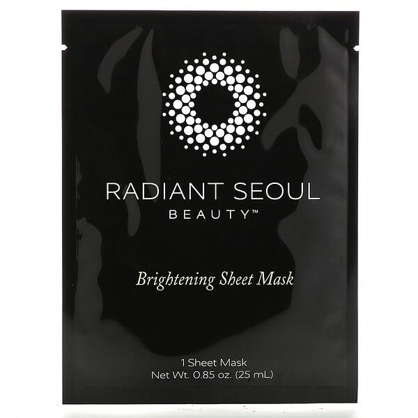 Radiant Seoul, осветляющая тканевая маска, 1шт., 25мл (0,85унции)