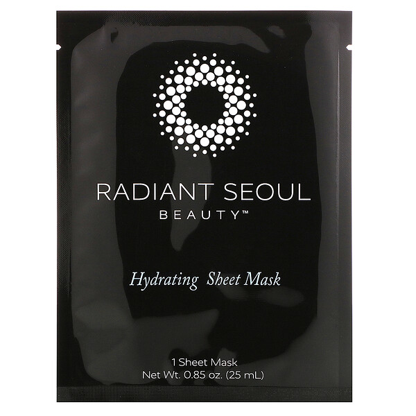 Radiant Seoul, увлажняющая тканевая маска, 1шт., 25мл (0,85унции)