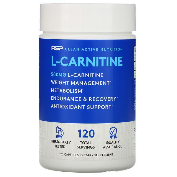 L-Карнитин, 500 мг, 120 капсул