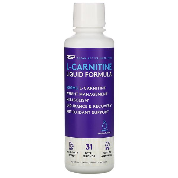 L-карнитин, со вкусом ягод, 3000мг, 473мл (16жидких унций)