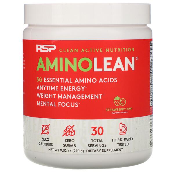 RSP Nutrition, AminoLean, смесь для приготовления энергетических напитков, клубника и киви, 270 г (9,52 унции)