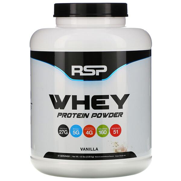 Сывороточный протеин в порошке, ваниль, 2,09кг (4,6фунта)