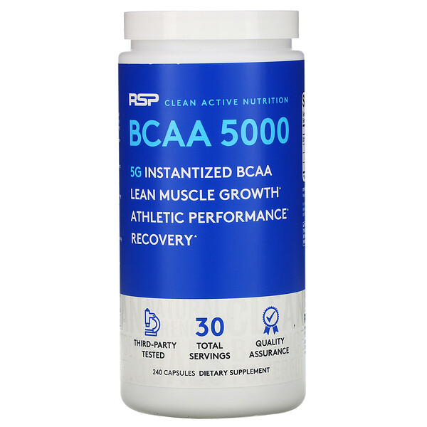 RSP Nutrition, BCAA 5000, 240капсул
