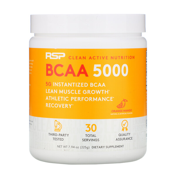 BCAA 5000, Orange Mango, 7.94 oz (225 g)