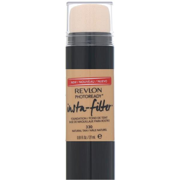 Revlon, Тональная основа Insta-Filter, PhotoReady, оттенок330 естественный загар, 27мл
