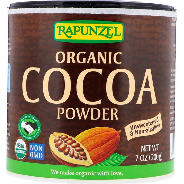 Органический какао-порошок, 201г (7,1унции)