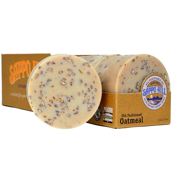 Глицериновое крем-мыло, старинный рецепт с овсом, 12 кусков по 100 г (3,5 унции) каждый