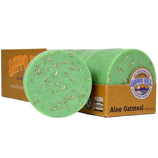 Глицериновое мягкое мыло, Алое и толокно,12 штук по 3.5 унции (100 г)