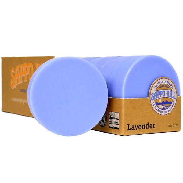Глицериновое крем-мыло, лавандовое, 12 кусков по 3,5 унции (100 г)