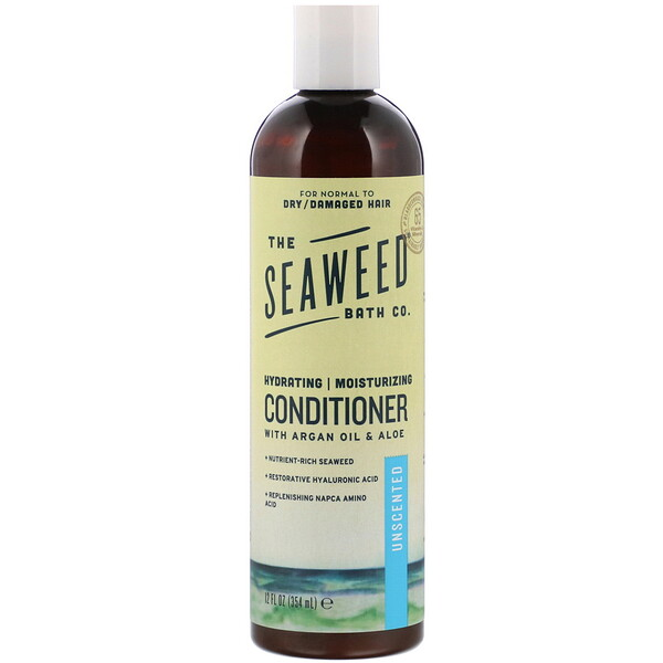 The Seaweed Bath Co., Hydrating Moisturizing Conditioner, Unscented, 12 fl oz (354 ml)