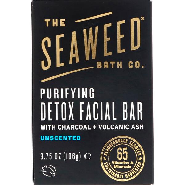 The Seaweed Bath Co., Очищающее детоксицирующее мыло для лица, без ароматизаторов, 3,75 унций (106 г)