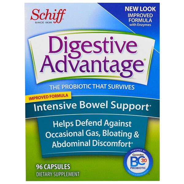 Digestive Advantage, интенсивная поддержка работы кишечника, 96 капсул