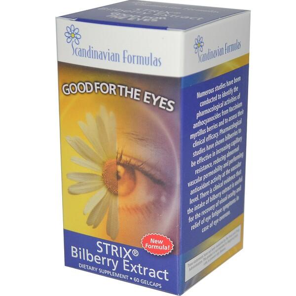 Strix, экстракт черники, 60 желатиновых капсул