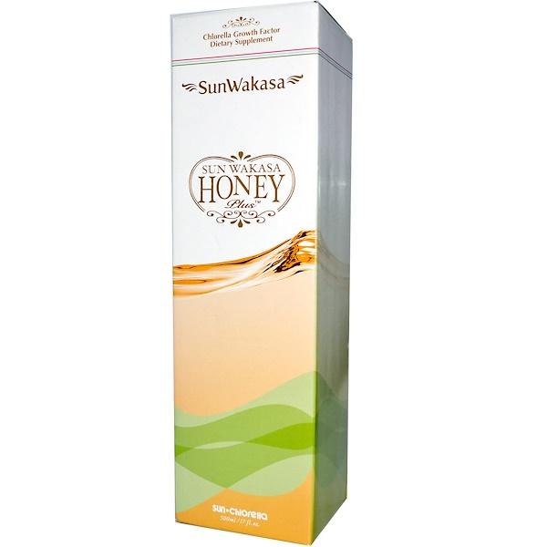 Sun Chlorella, Sun Wakasa Honey Plus, 17 fl oz (500 ml) (Discontinued Item)