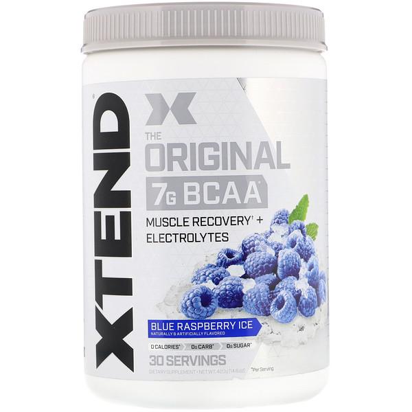 Xtend, The Original, 7г аминокислот с разветвленной цепью (BCAA), со вкусом голубой малины, 420г (14,8унции)