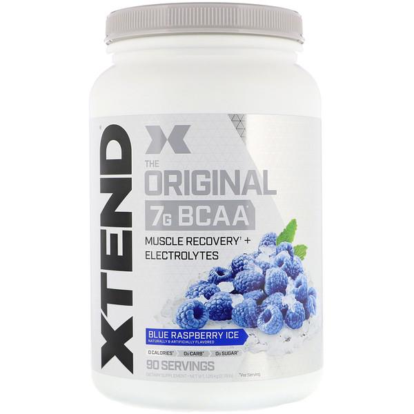Xtend, The Original, 7г аминокислот с разветвленной цепью (BCAA), фруктовый лед со вкусом голубой малины, 1,26кг (2,78фунта)