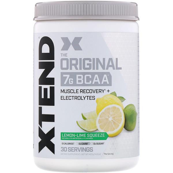 Xtend, The Original, 7г аминокислот с разветвленной цепью (BCAA), лимон-лайм, 420г