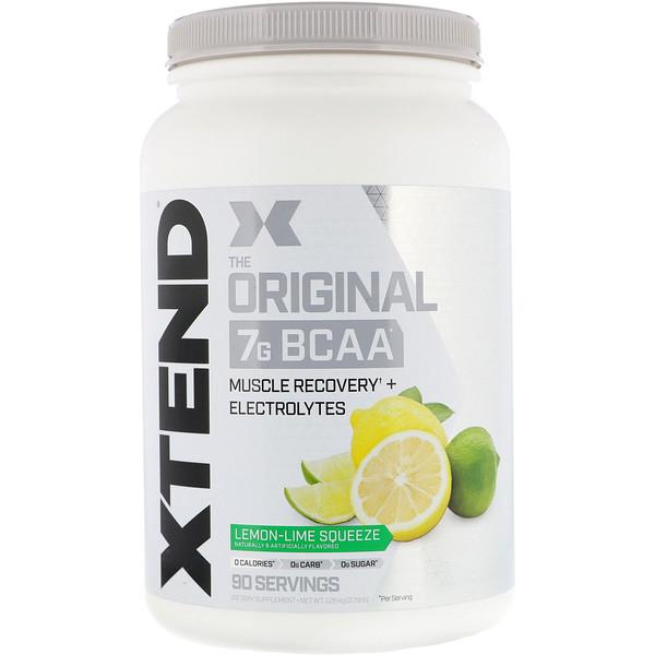 Xtend, The Original, 7г аминокислот с разветвленными цепями, со вкусом лимона и лайма, 1,26кг (2,78фунта)