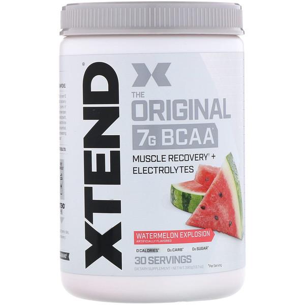 Xtend, The Original, 7г аминокислот с разветвленной цепью (BCAA), арбузный взрыв, 390г (13,7унций)