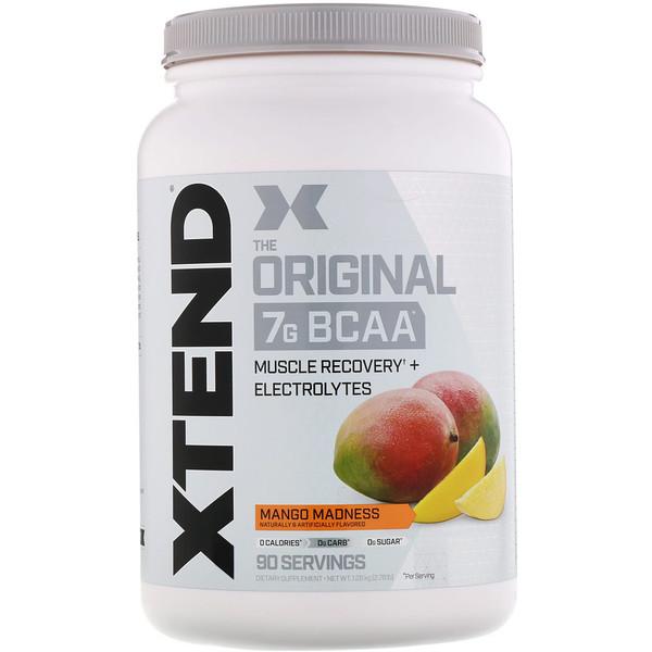 Xtend, The Original, 7г аминокислот с разветвленной цепью (BCAA), со вкусом манго, 1,26кг (2,78фунта)