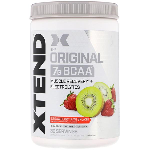 The Original, 7г аминокислот с разветвленной цепью (BCAA), со вкусом клубники и киви, 420г (14,8унции)