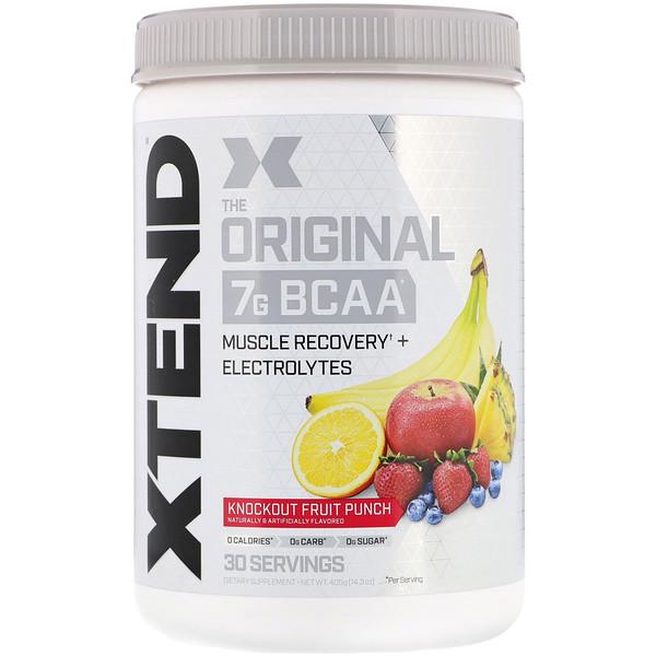 Xtend, The Original, 7г аминокислот с разветвленными цепями, со вкусом фруктового пунша, 405г (14,3унции)