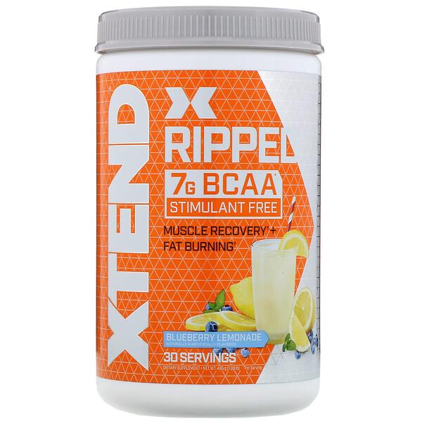 Ripped, 7г аминокислот с разветвленными цепями, со вкусом черничного лимонада, 495г (1,09фунта)